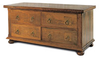 Flagstone Bedroom Furniture 4 Drawer Low Chest DW14