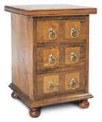 Flagstone Bedroom Furniture 3 Drawer Bedside Chest DW21