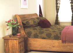 flagstone bedroom solid fruitwood bedroom furniture with granite inlays - Fruitwood Bedroom Furniture