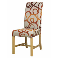 Dining Chair Fabric with Oak Frame