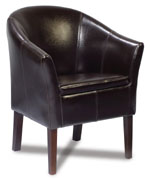 Max Furniture - Max Tub Chair (By Cast Leather) MAX05
