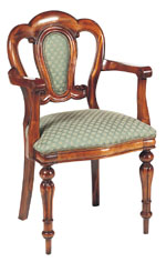Sutton Park Furniture - Admiralty Carver with Upholstered Back SP201A