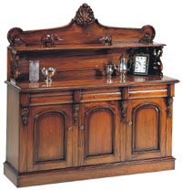 Sutton Park Furniture - 3 Door Chiffonier with Upstand SP300